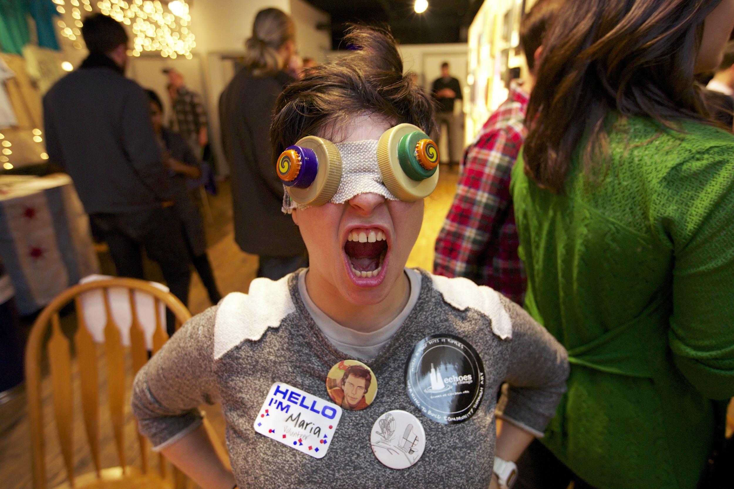 One of the volunteers made these goggles. They were pretty awesome.