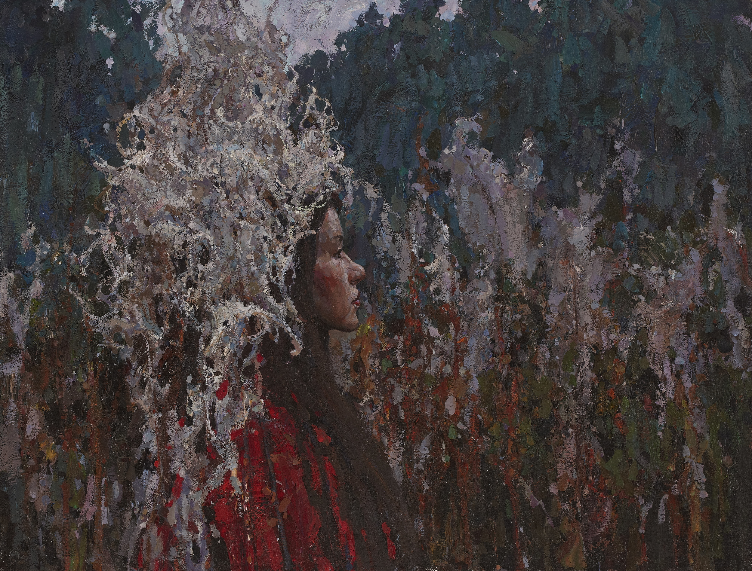 "Wanderer  25,5"" x 33,25"" Oil on Linen. Price. $4500,  2013. Framed"