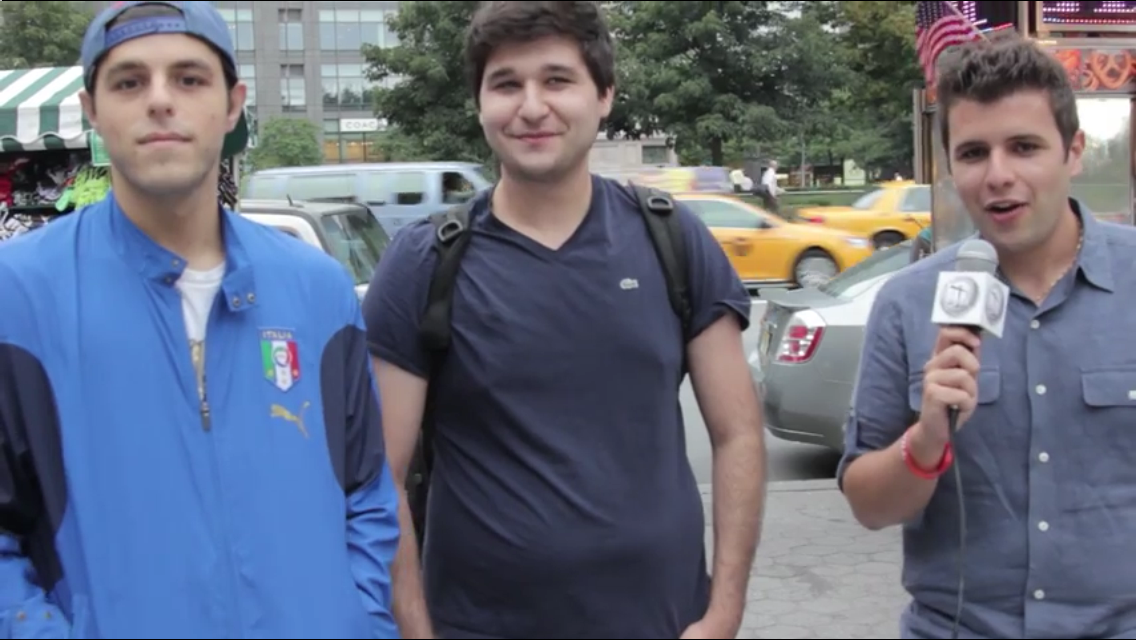 Travis Viola, left, when he made his appearance on LABO's Taking it To The Streets episode in July 2013.