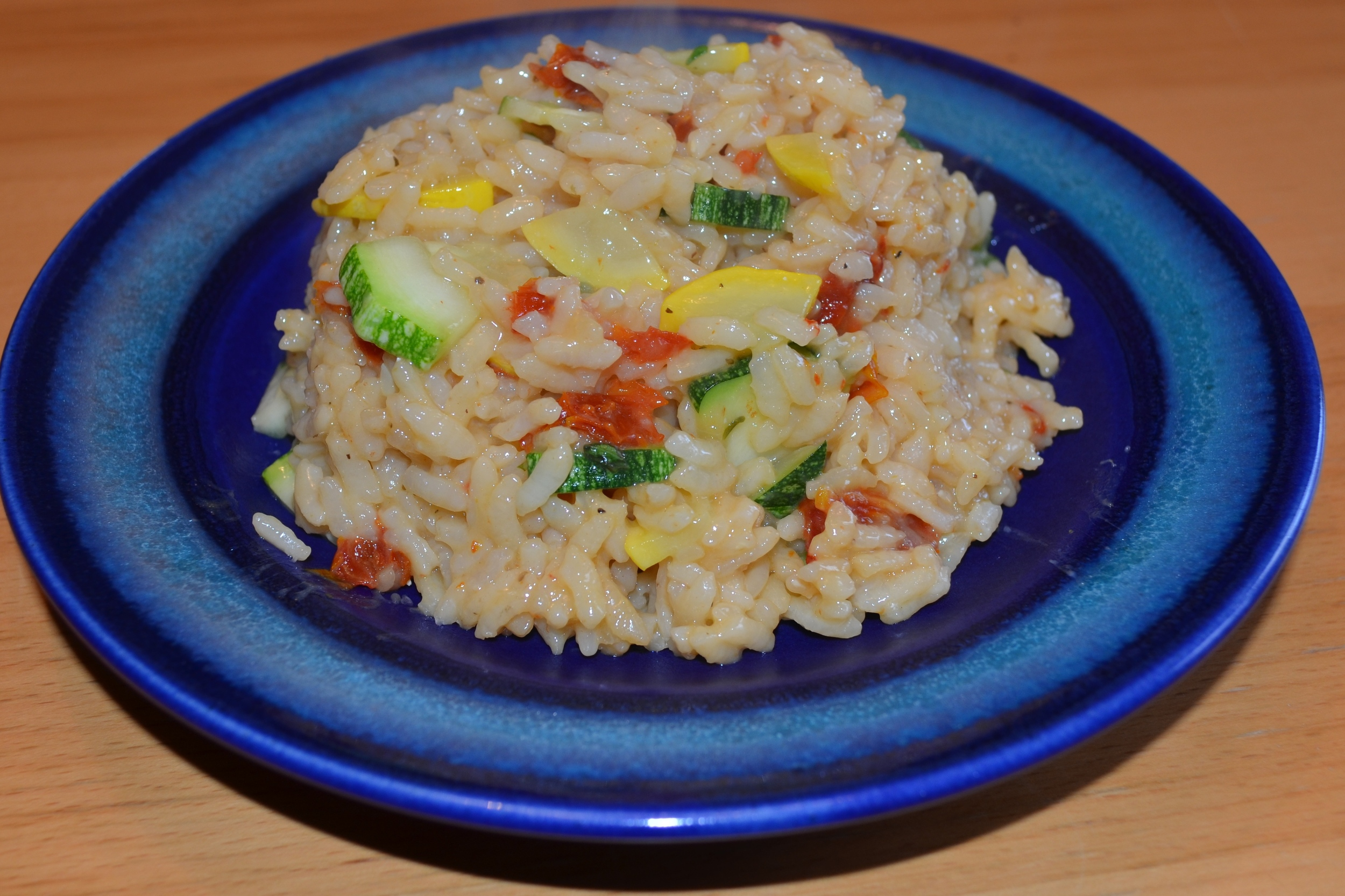 Summer Squash and Sun-dried Tomato Risotto
