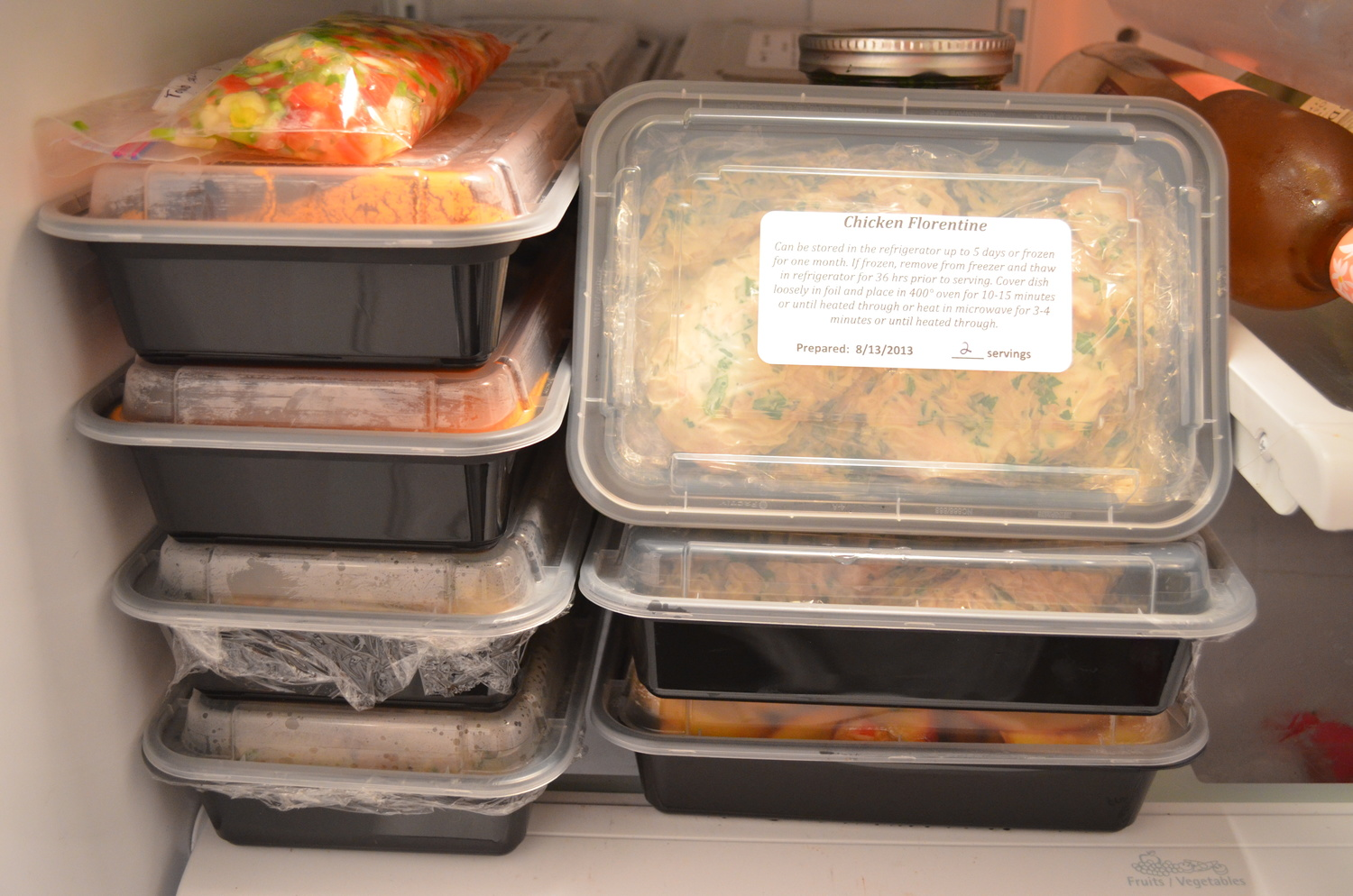 storing diet chef food