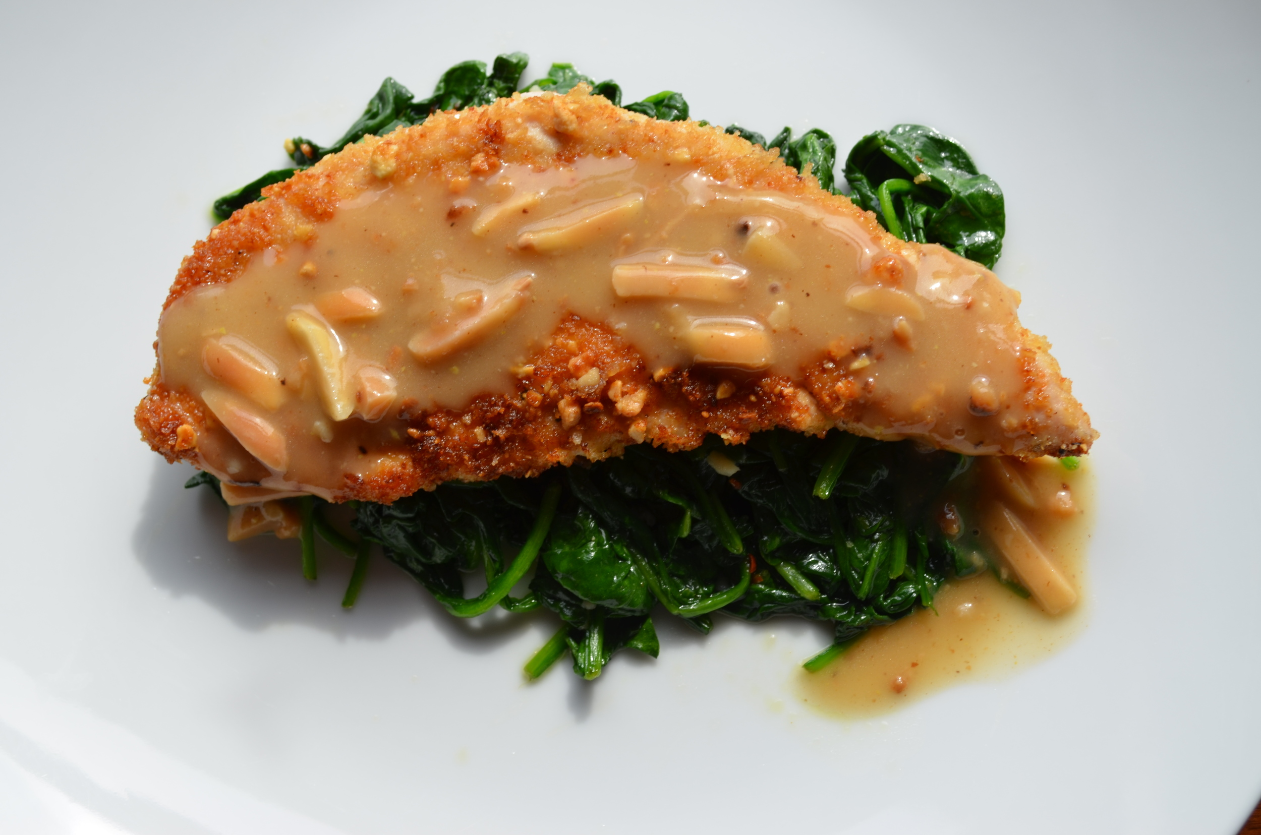 Almond Crusted Turkey Tenderloin with Almond Gravy