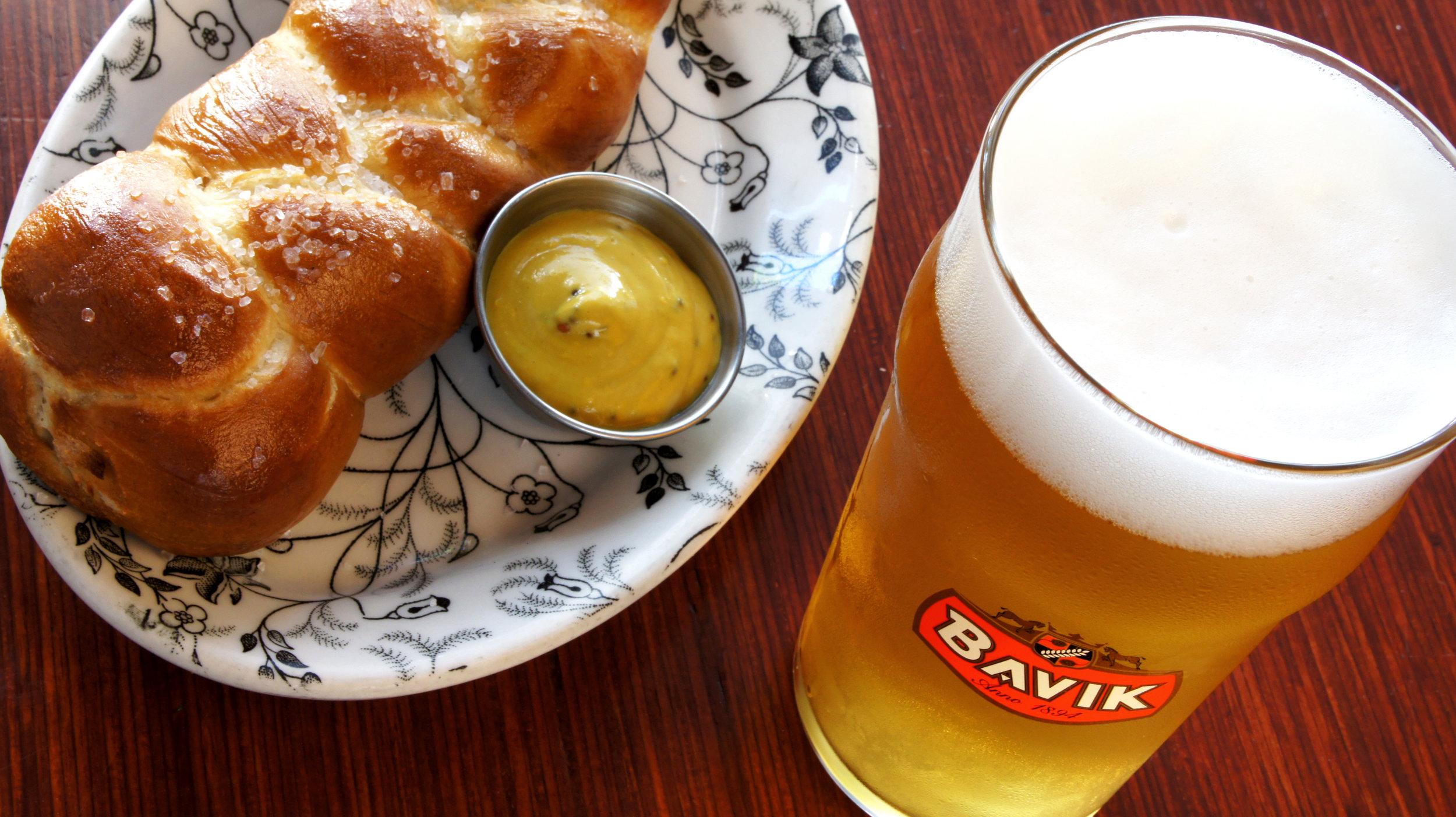 Housemade pretzels & other European specialties with German & Belgian beer