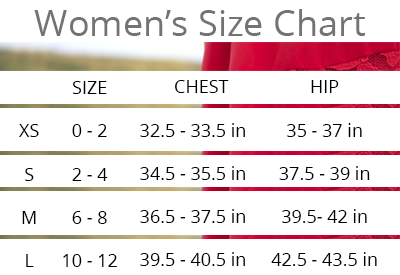 Everly and Ace Size Chart