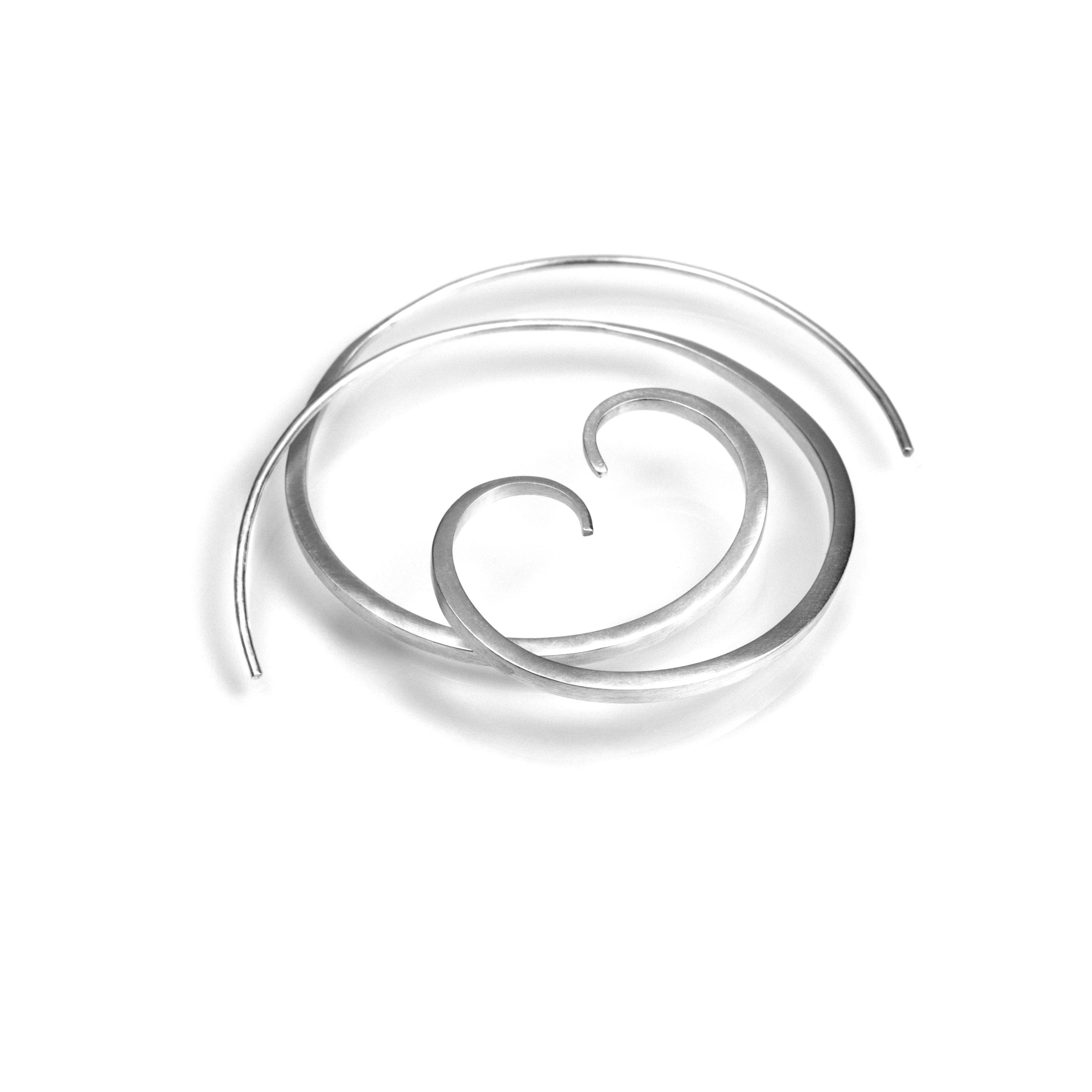 Spiral Forged Earrings