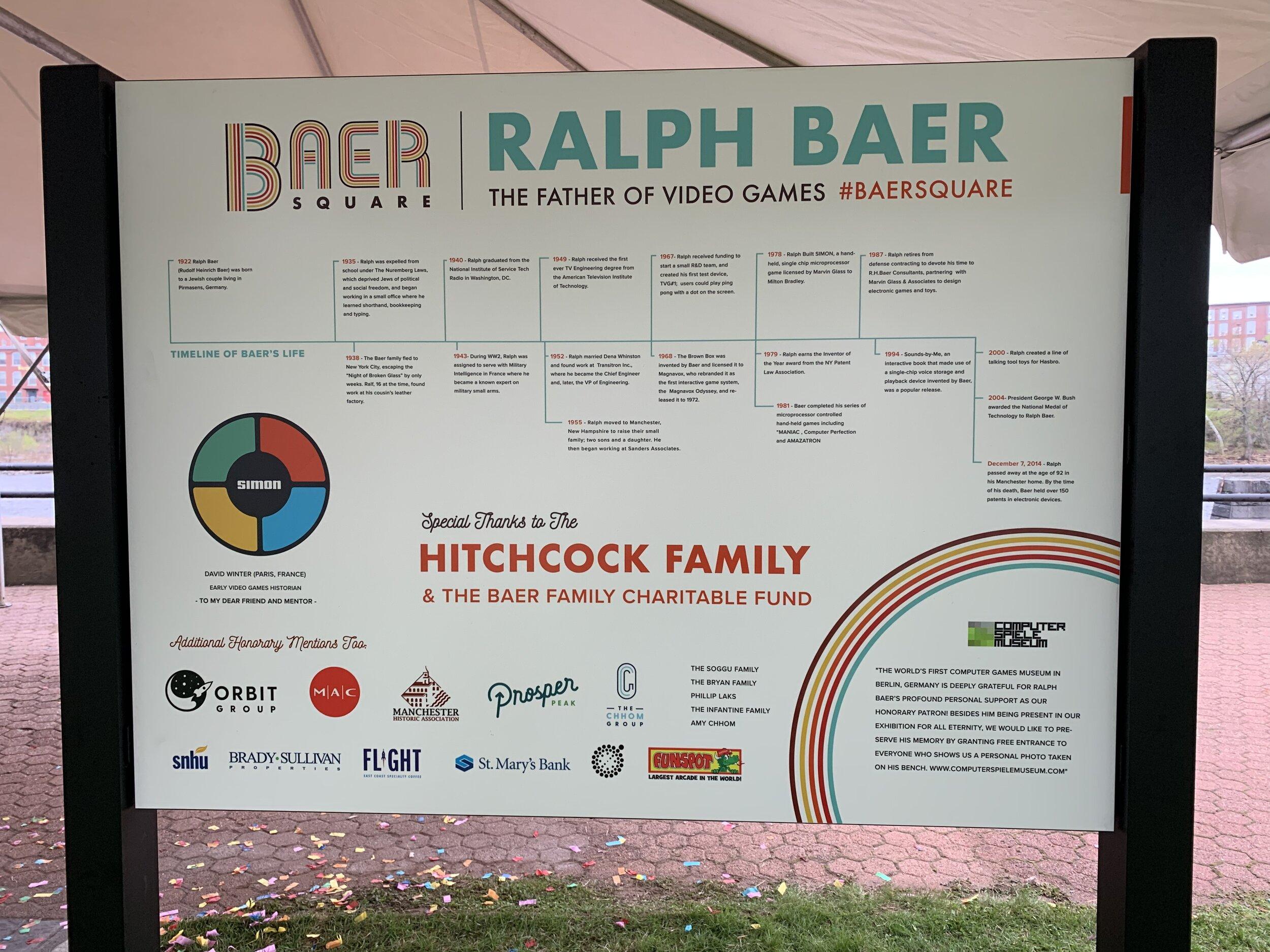 Baer Square Sign - Timeline