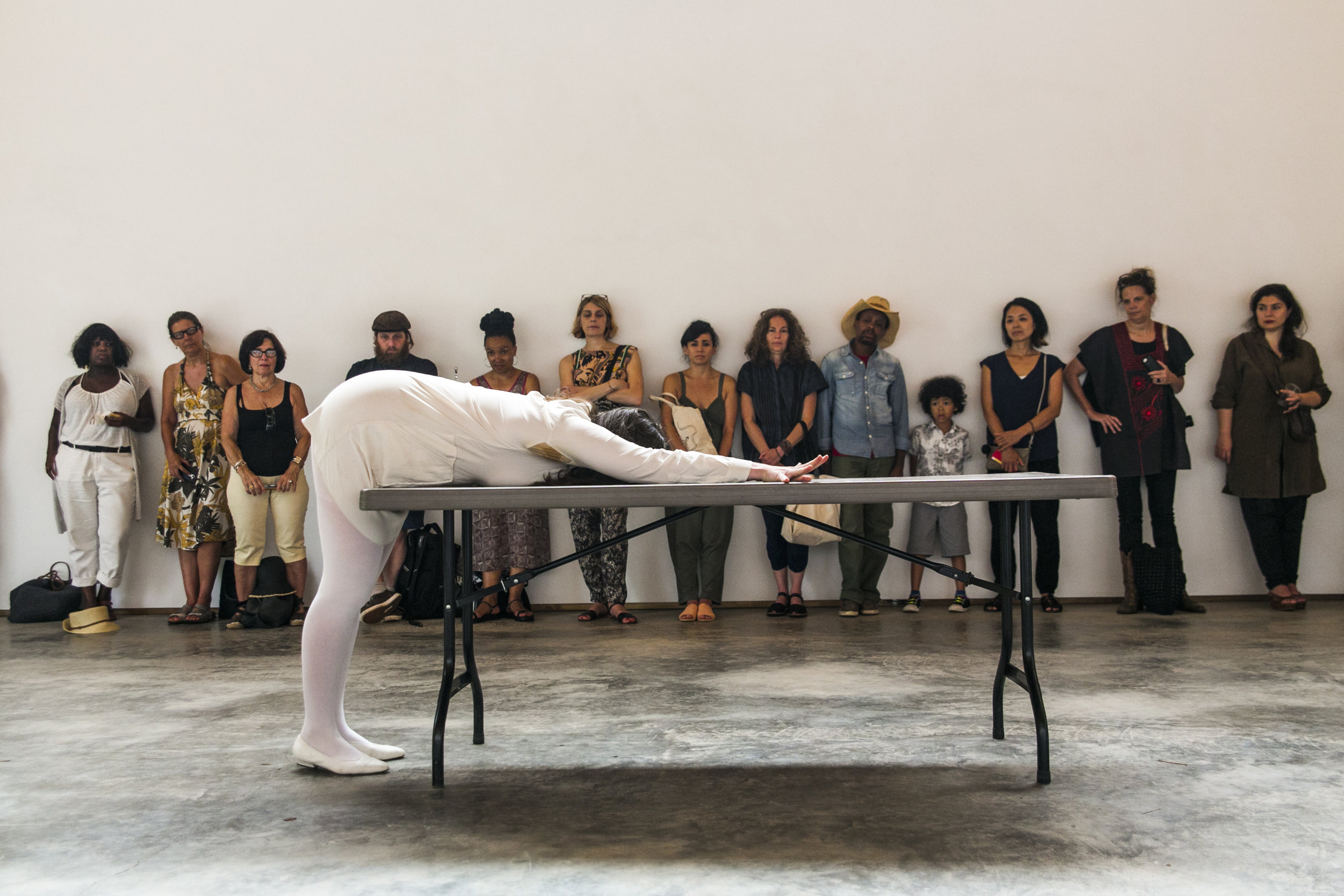 Alex Beriault, Untitled (Performance with Table). Credit: Whitney Browne