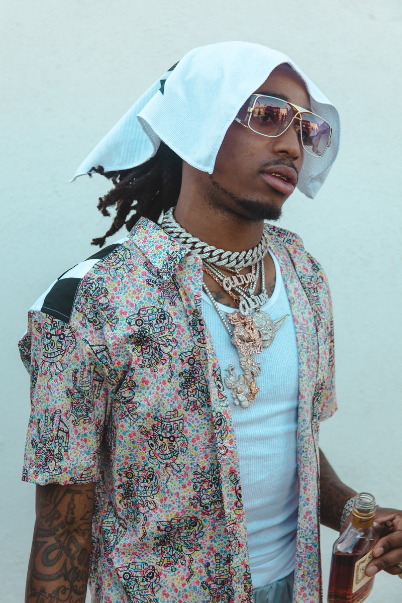 Quavo of American hip-hop group, Migos
