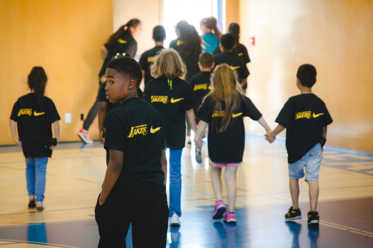 Lakers Health & Fitness Camp at the Boys & Girls Club of Santa Monica, 2017.