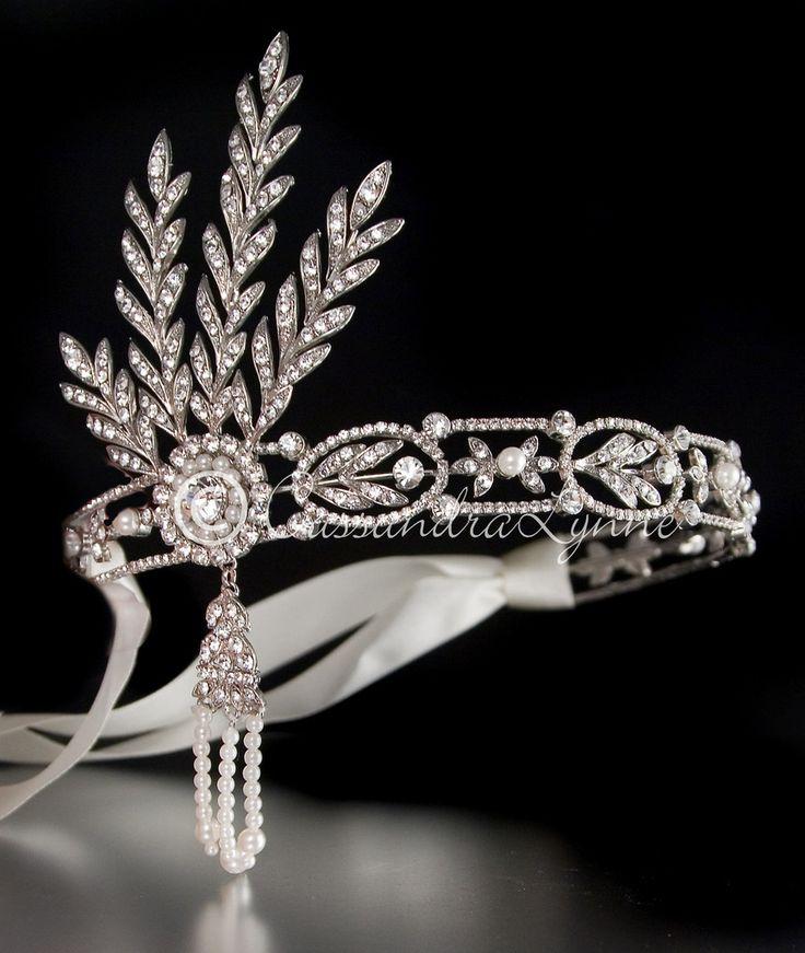 great gatsby headband art deco hair bride.jpg