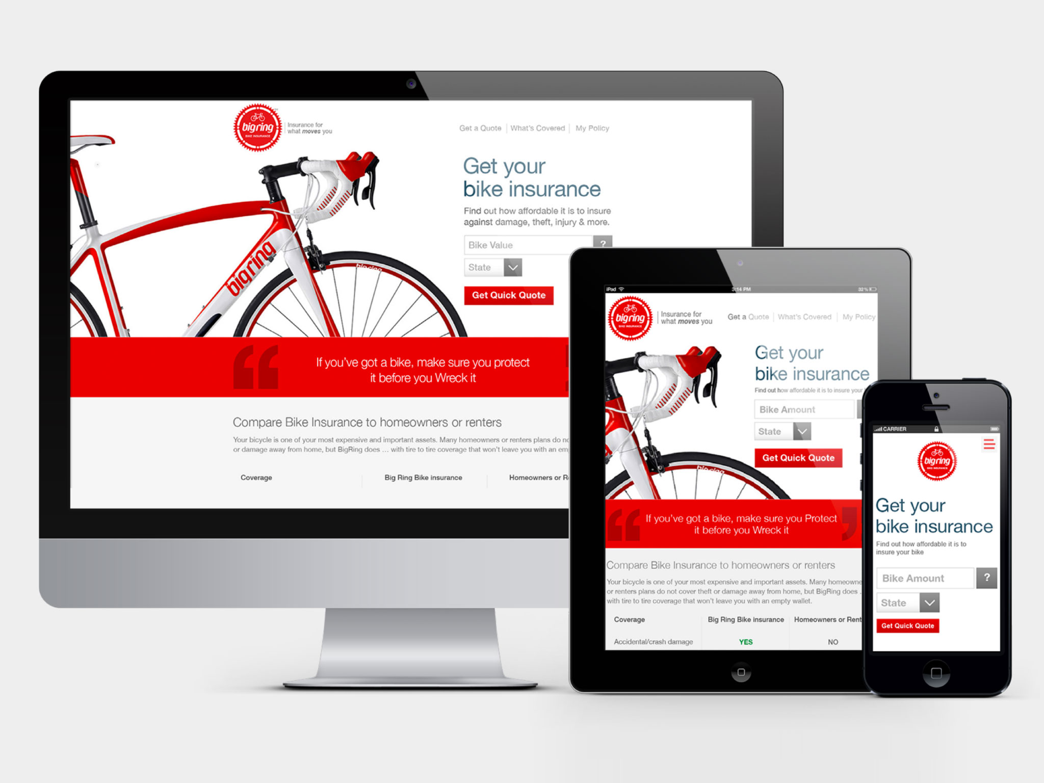 Created the first ever fully responsive website for Transamerica in 35 days for UX