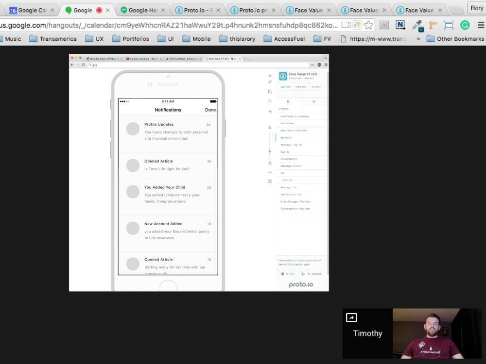 Remote Usability Testing: Utilizing Hangouts, Proto.io and Snagit to get feedback