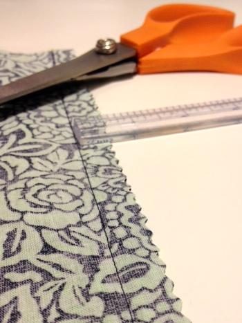 Seam sewn with straight stitches