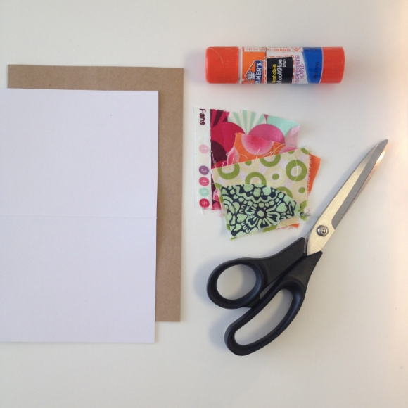 Sewing Valentine's Day Cards - Gather Card Making Materials