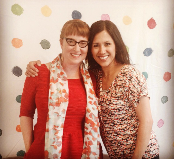 Sew You Studio | Sadie & Claudia at the Grand Opening Celebration of each of their studios