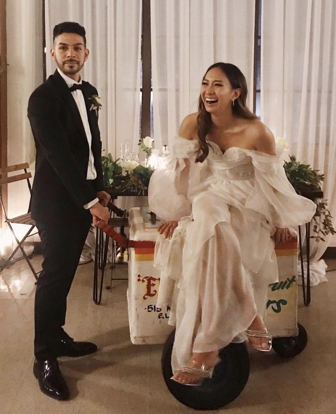 TIFFANY GOMEZ'S WEDDING DRESS - DESIGNED BY JOHN DE PERALTA