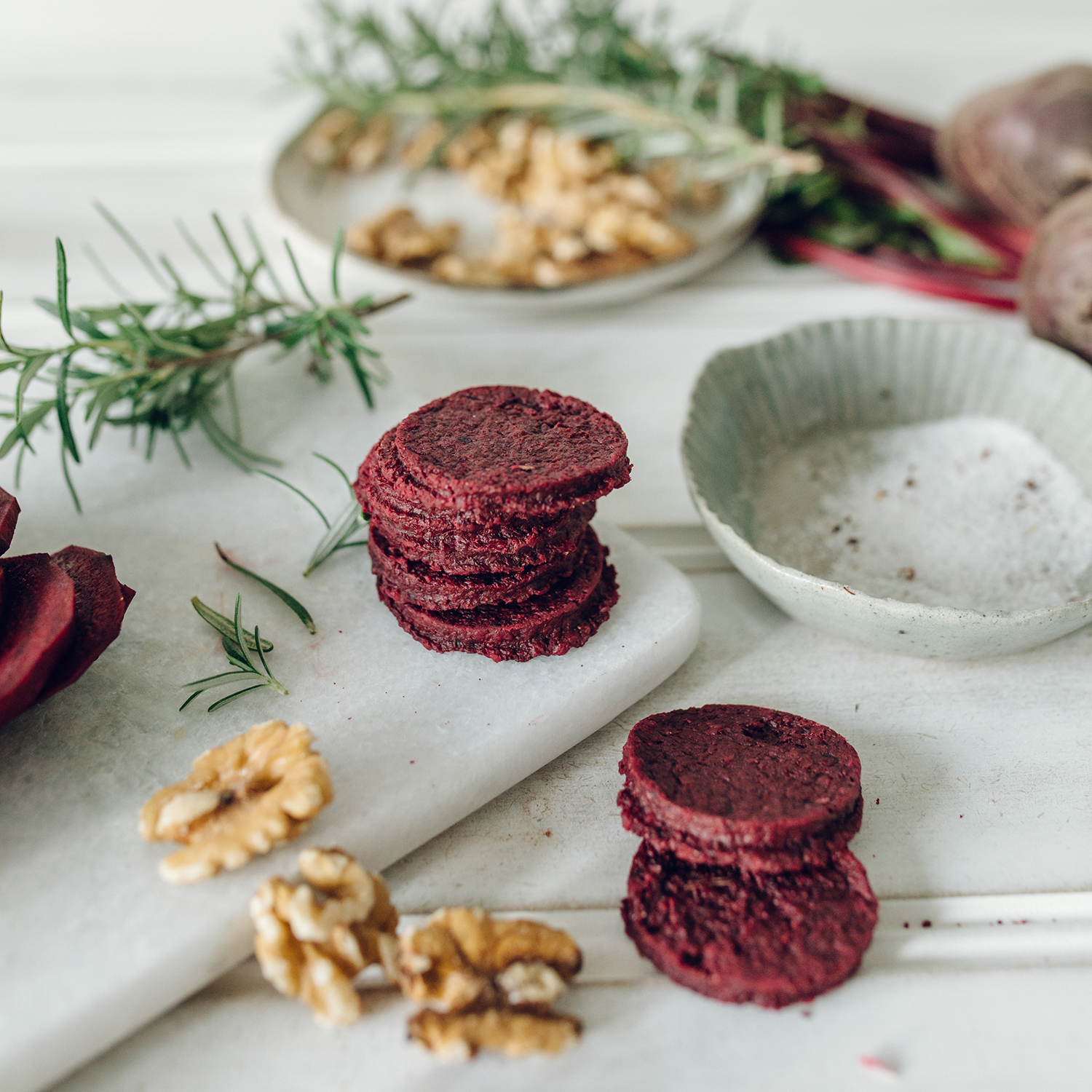 Made with farm fresh beetroots, walnuts and a hint of rosemary.