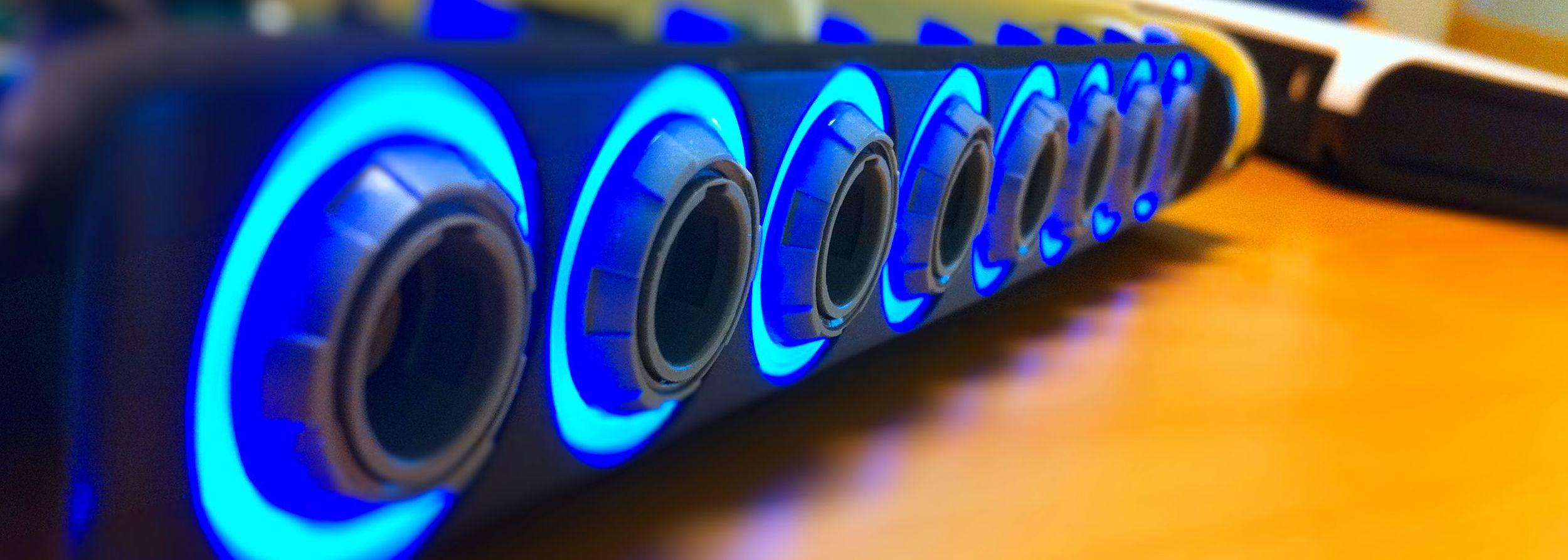 Design av lys-ledere i utstyr til medisinsk bruk.