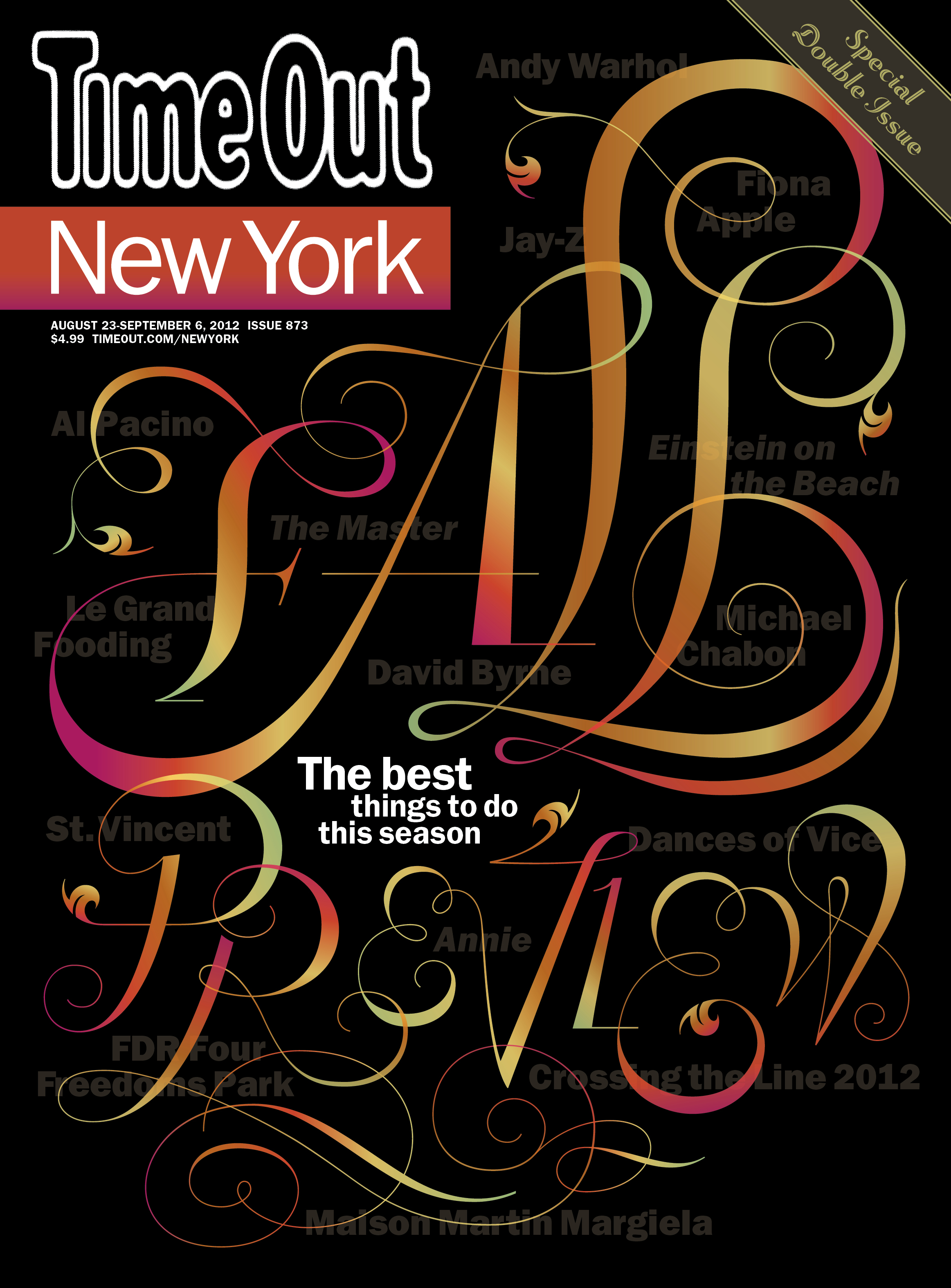 Time Out   New York  | cover design & custom display lettering for special issue