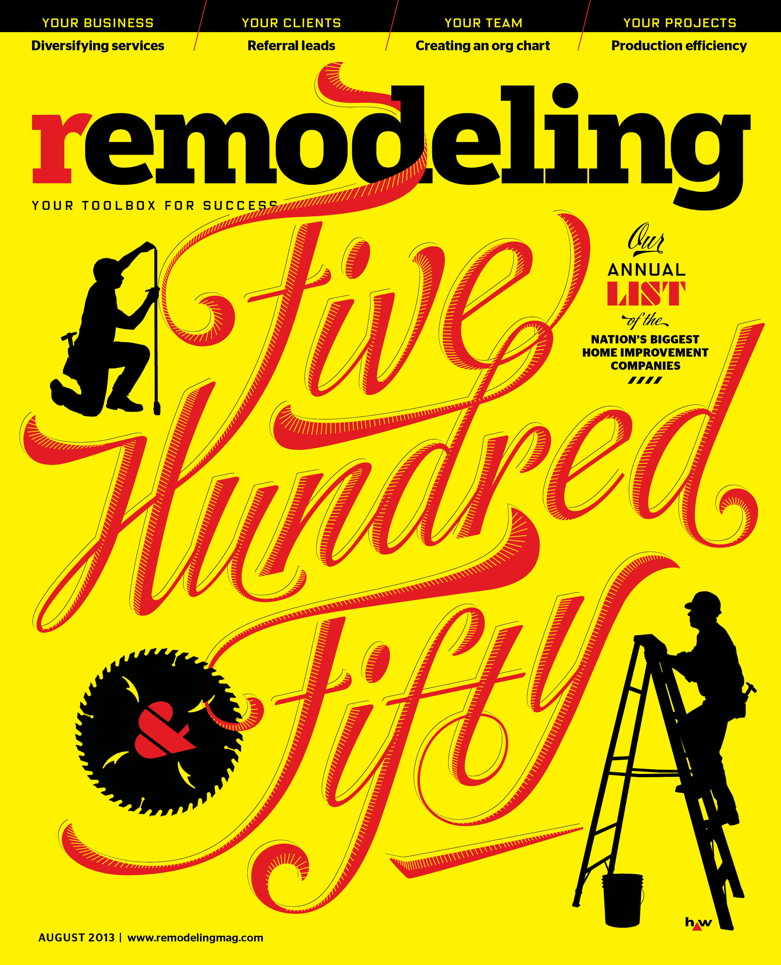 Remodeling  | custom lettering for special issue