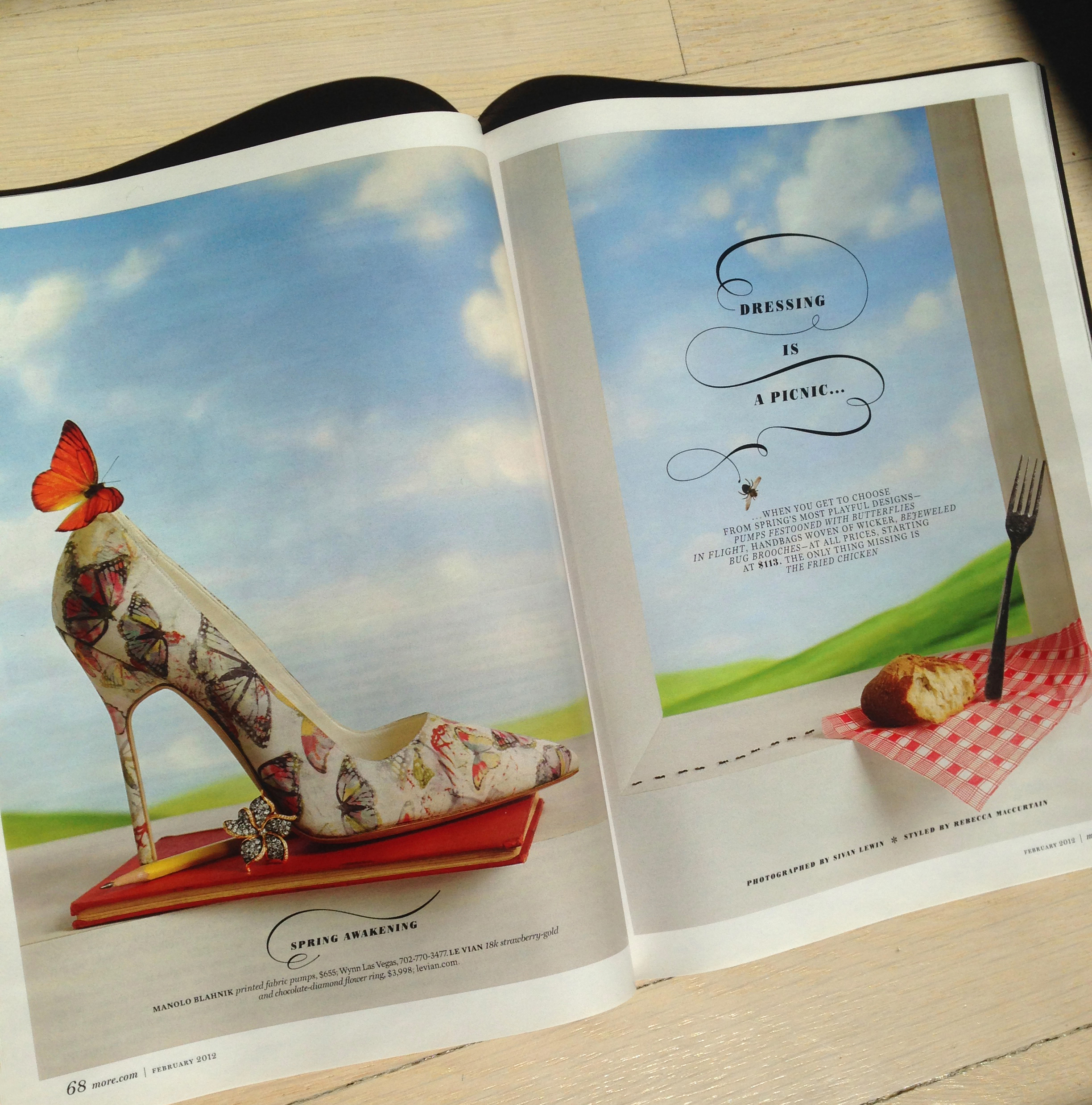 More Magazine  | custom display type for fashion feature in collaboration with Deb Bishop