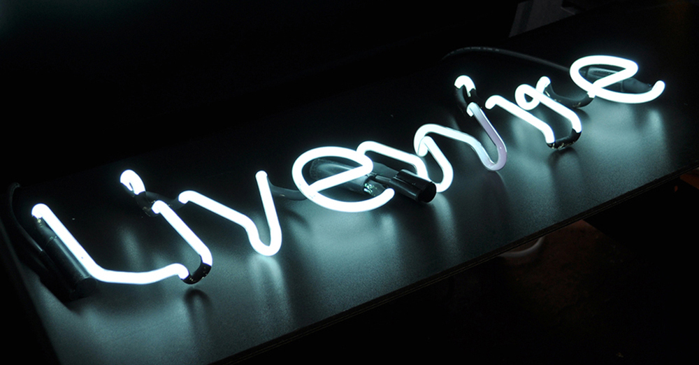 Neon artwork for the Livewire head office