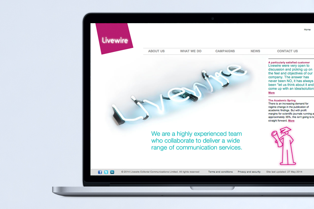 Livewire website  bringing all the elements together