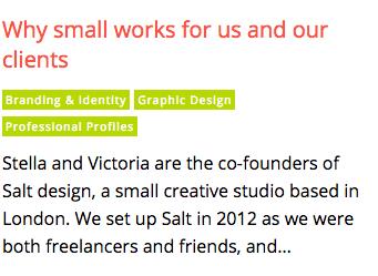 Salt Creative Digest Feature