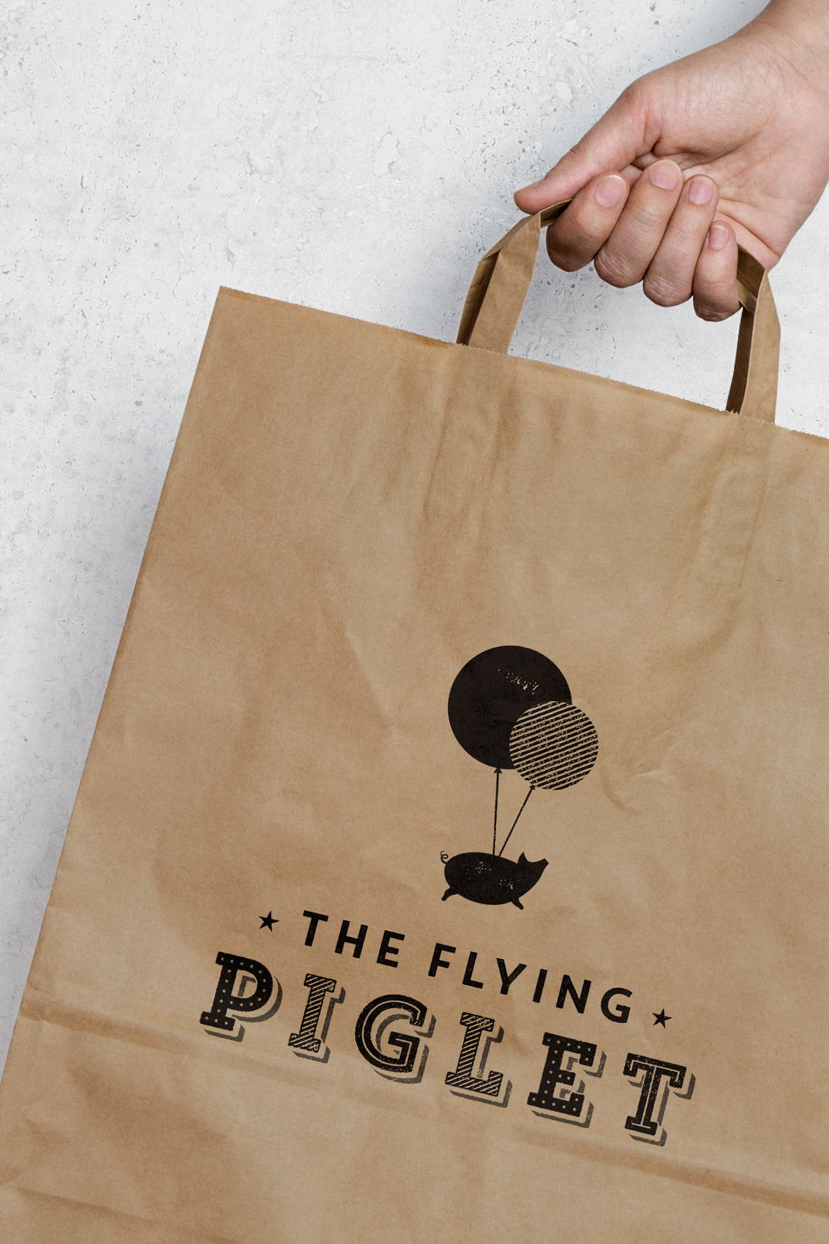 Salt Design - The Flying Piglet gourmet street food brand identity