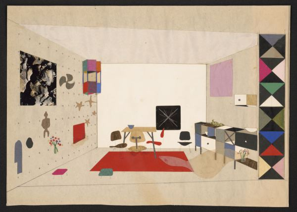 Room display collage : Exhibition For Modern Living, 1949
