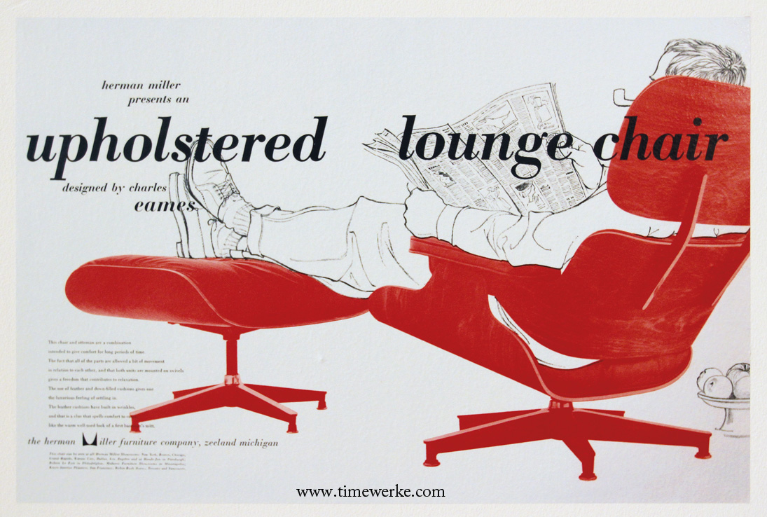 Eames Lounge Chair advert, 1956