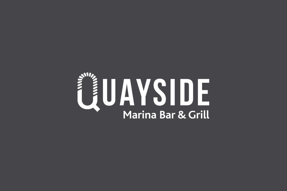 Quayside Marina Bar & Grill Logo Salt Design