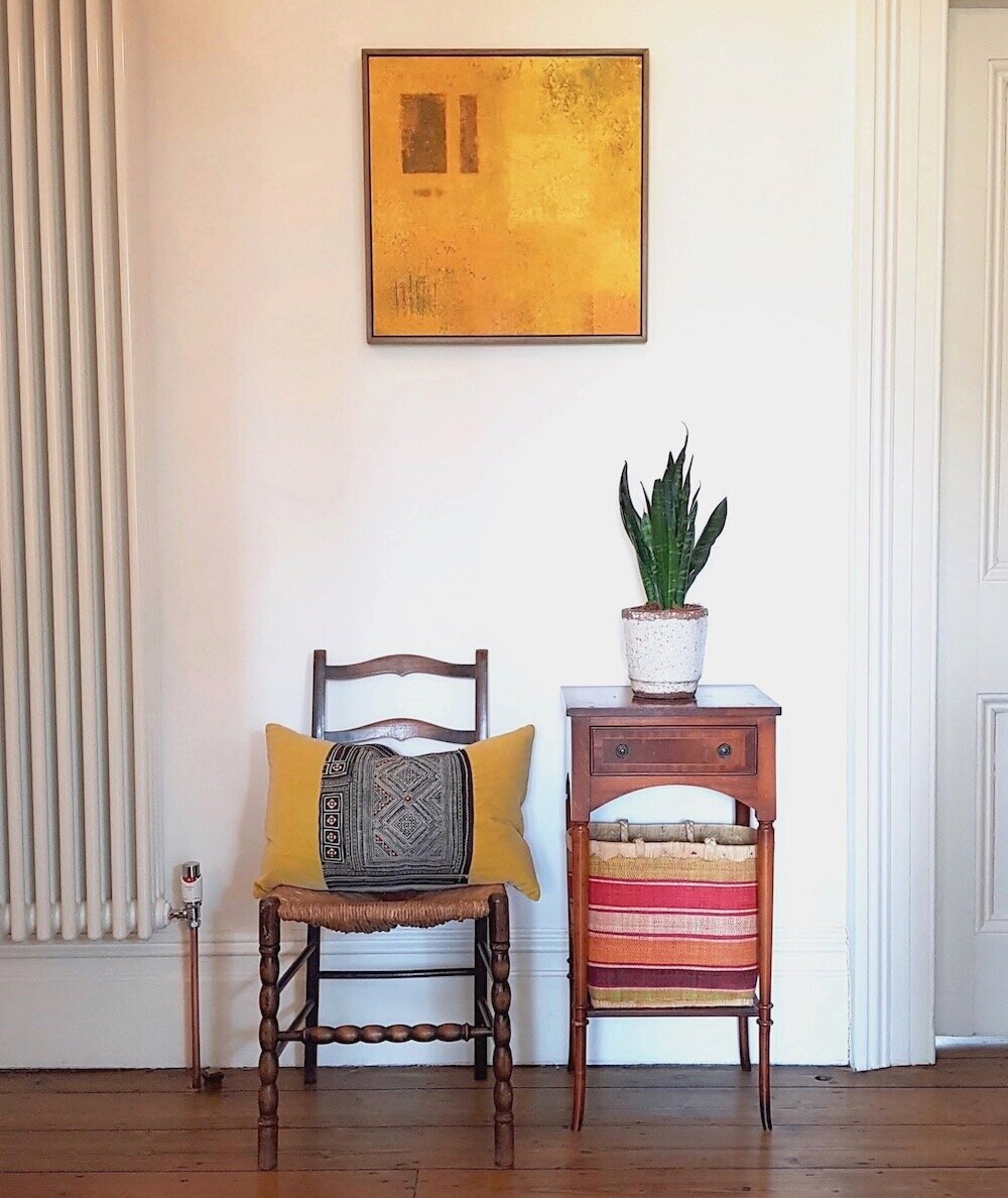 'Southern Wall' in its new owner's home in Redland, Bristol 2019