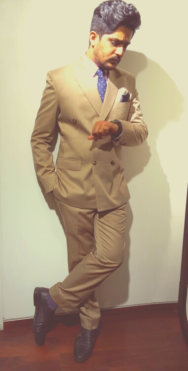 Khaki Double Breasted Suit with Double Monks.jpg