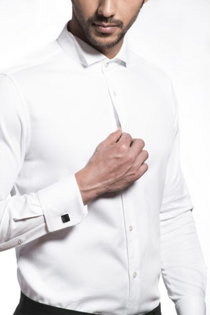 A classic crisp white shirt is every gentleman's armor. With french-cuffs & cuff-link, its just too dapper.