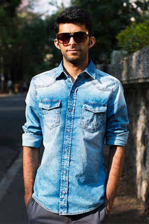 Denims are every man's greed and what better way to have a faded denim shirt to show some style.
