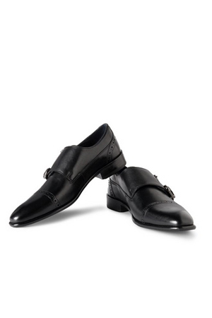 This uber Black Double Monks straps shoes are for those who want their Business meeting stylish.