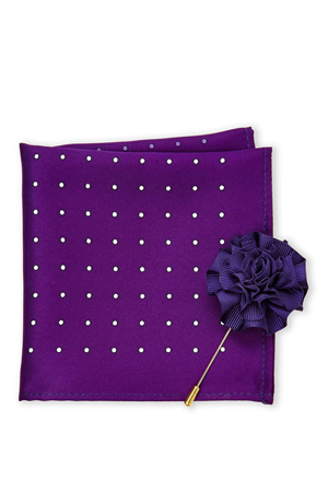 Add this purple color pocket square to your black or navy suit outfits. The lapel is a cherry on cake.