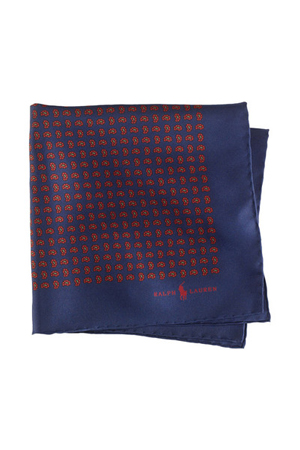 This Pine print silk pocket square will make your navy or a grey suit jut out in the crowd of mediocre.