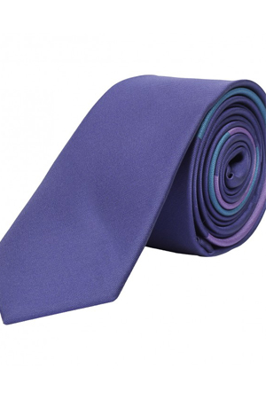 This purple and blue strip tie goes well with baby pink shirt, navy suits or even a white shirt.