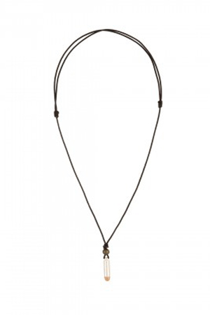 This bullet necklace will add style to your beach-wear outfits. Looks best when worn with open button shirt.