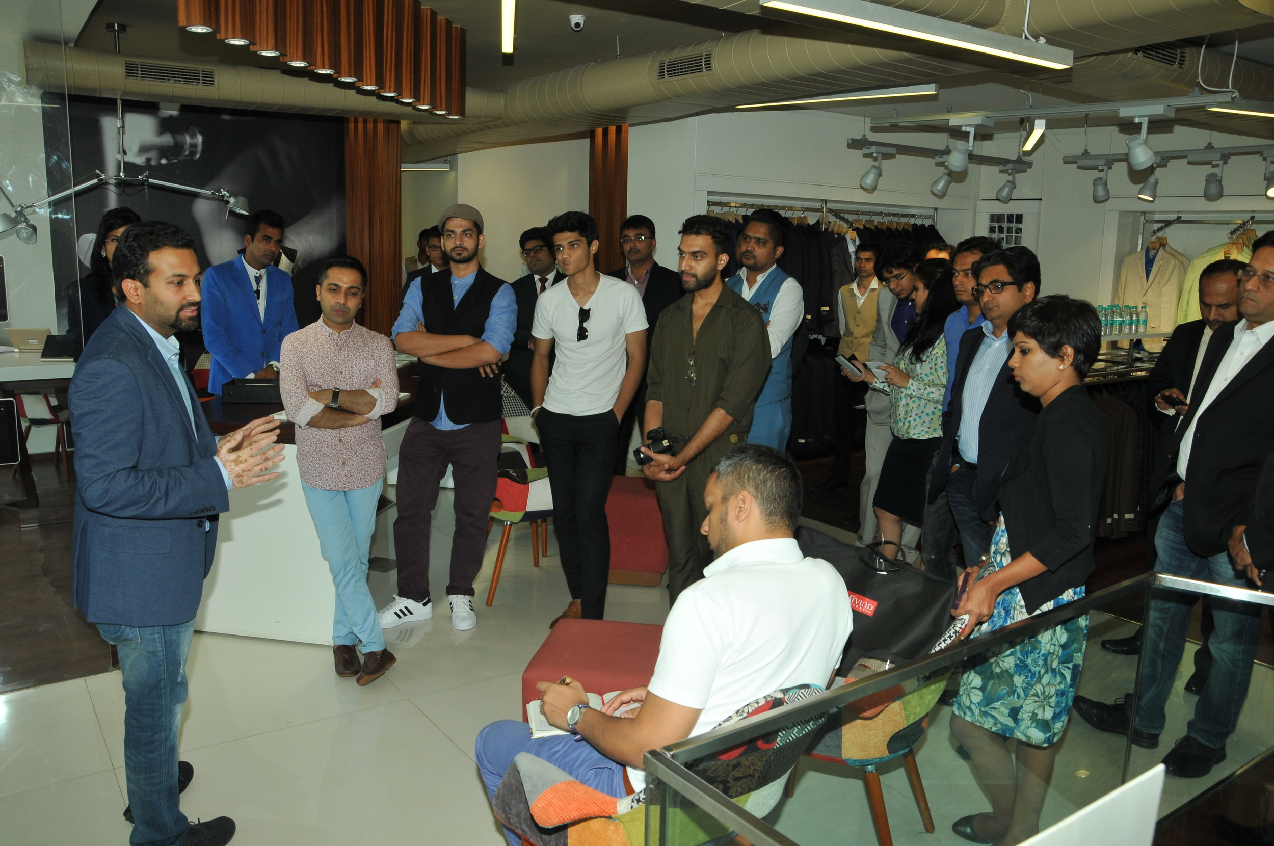 Executive Director at Arvind Ltd – Mr. Kulin Lalbhai explaining the vision for the brand and its expansion.