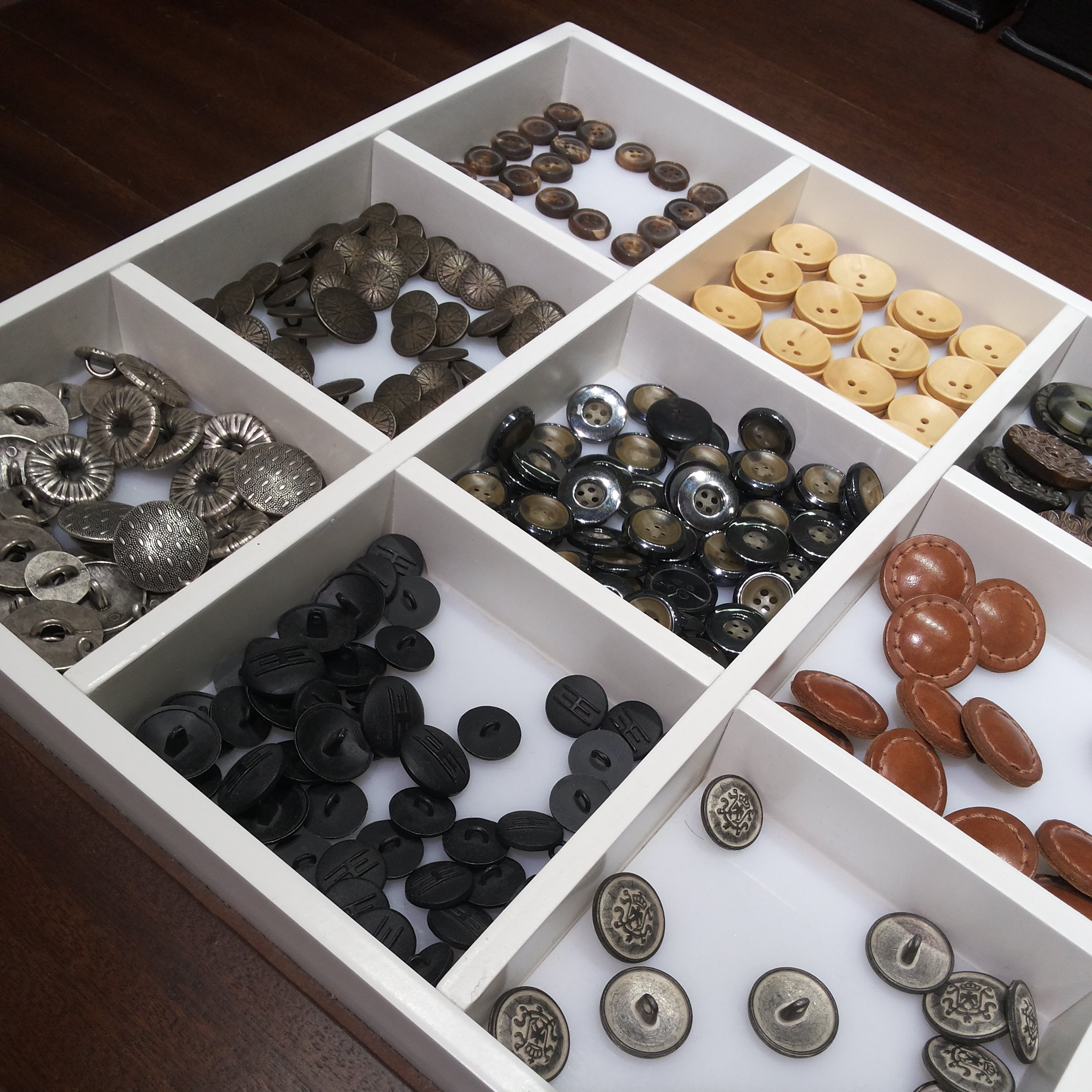Variety of Buttons for Suits.