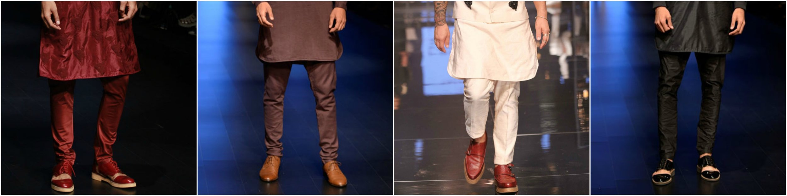 INDIAN-traditional-kurta with formal shoes_METRO
