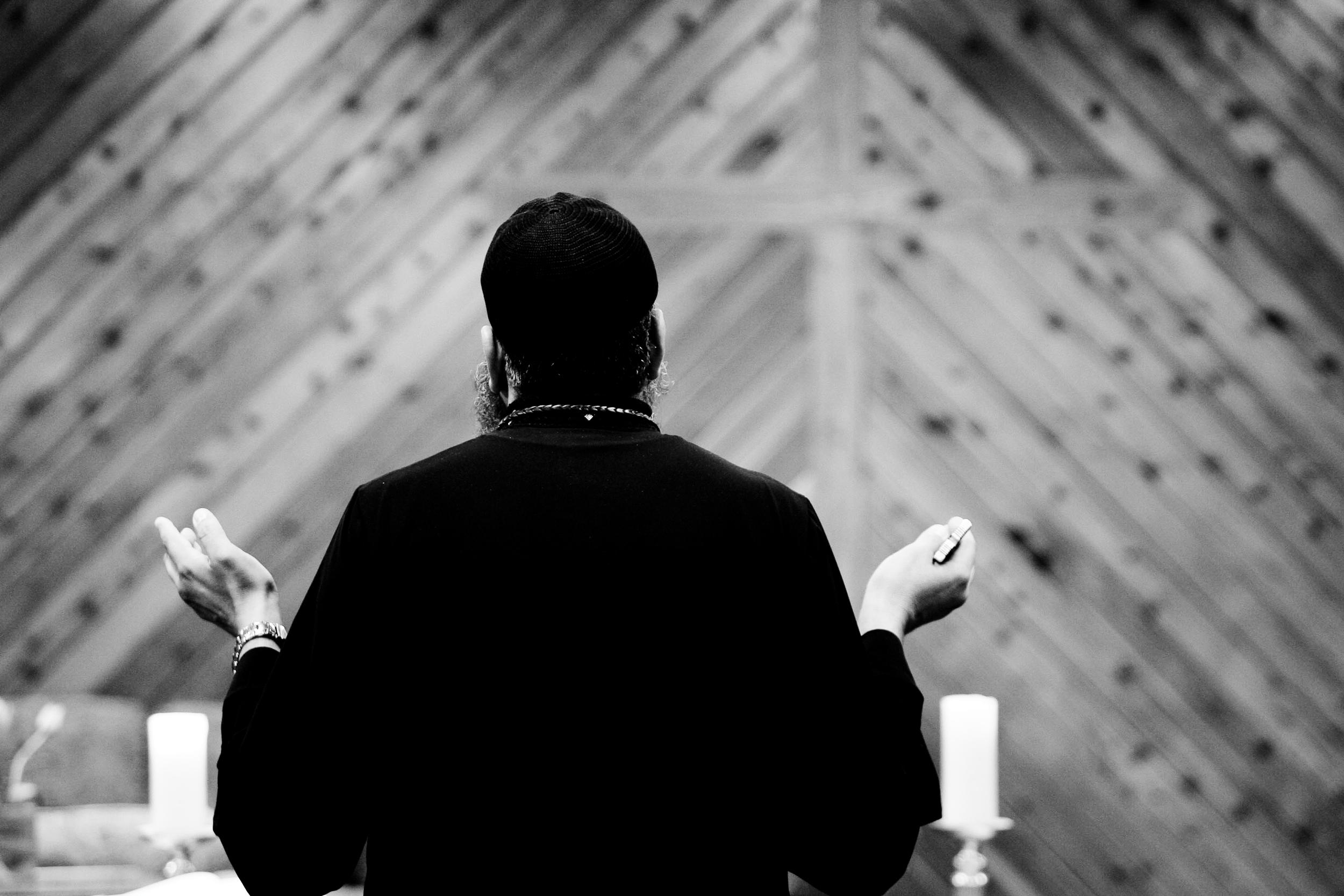 Muslim man inside a mosque