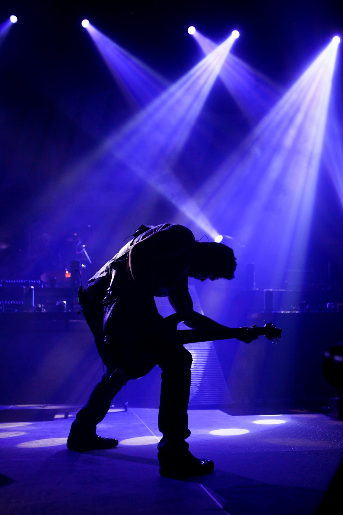 guitarist performing live