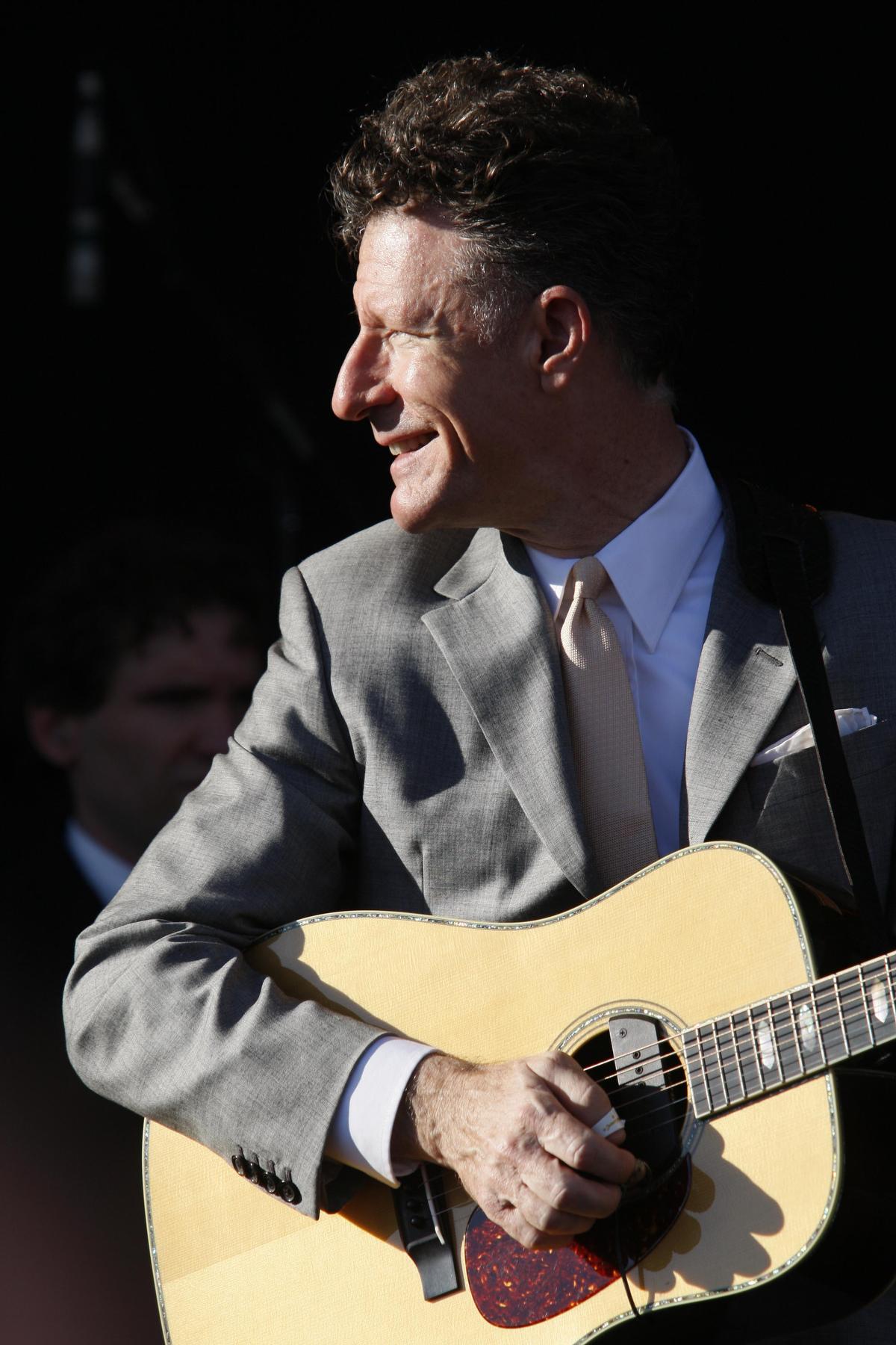 guitarist at an outdoor concert