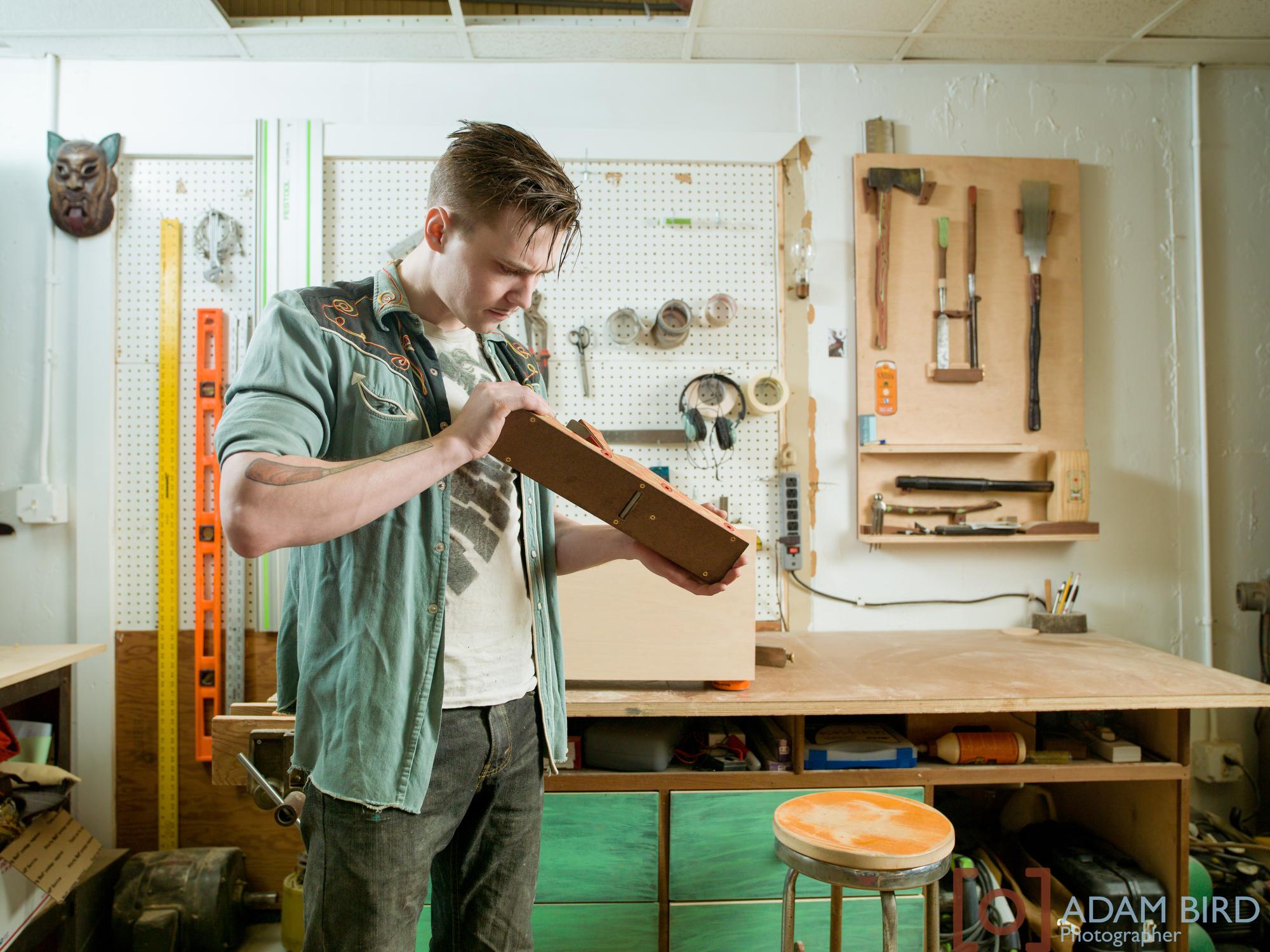 Josh McVety in his studio