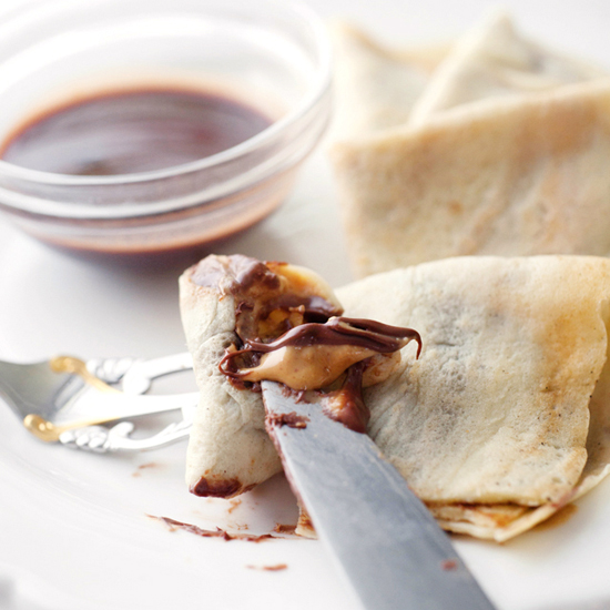 PEANUT BUTTER NUTELLA CREPES