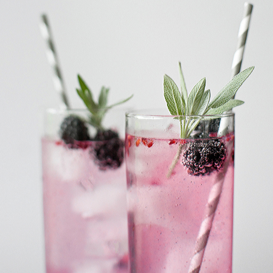 BLACKBERRY SAGE SPRITZERS